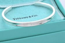 "Tiffany & Co Sterling Silver 1837 Narrow Cuff Bangle 7"" Bracelet w/ Packaging"