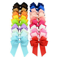 20pcs Grosgrain Ribbons Cheer Bow With Alligator Hair Clip Baby Girl Boutique WS