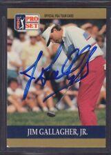 Jim Gallagher Jr. 1990 PGA Tour Pro Set #44 Autographed Signed jhpsg