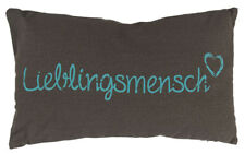 Kissen Lieblingsmensch Hellblau 30x50