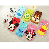 New! Cute 3D Cartoon Disney Silicone Rubber Soft Case Cover for iPhone 6 Plus 5S