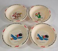 4 Vintage 1995 Kellogg's Cereal Fruit Loops Toucan Sam Plastic Breakfast Bowl