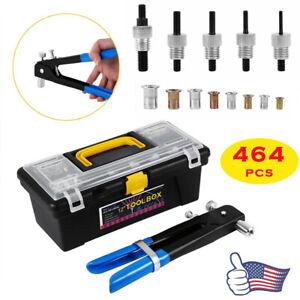 464x Rivet Nut Gun Kit Rivnut Setting Tools Nut Setter Tool Hand Blind Riveter