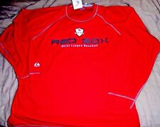 """RED SOX EMBROIDERED """"MAJESTIC AUTHENTIC"""" CREW RED SWEATSHIRT MEN'S 2XL NEW $70"""