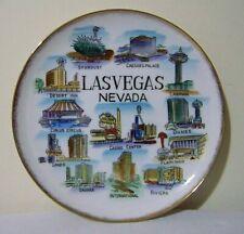 Las Vegas Nevada Souvenir Plate Flamingo Sands Sahara Riviera Landmark Hotel