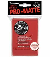 Ultra Pro Deck Protector Sleeves Matte Non Glare Red Pokemon MTG 50 in Pack