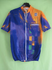 Maillot cycliste Sibille Jersey cycling 80'S Violet et orange Vintage - M
