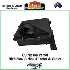 "High Flow Airbox fits GU Y61 Nissan Patrol 4"" Inlet & Outlet Performance Airflow"