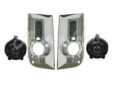 FOR 2010-2015 GMC TERRAIN FRONT BUMPER INSERT FOG LIGHT BEZEL CHROME 4PCS
