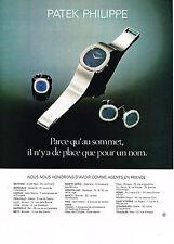 PUBLICITE  1978   PATEK PHILIPPE   montre
