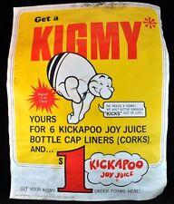 """Original Kickapoo Joy Juice Poster Vintage KIGMY 21.5"""" by 16.75"""""""