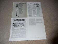 Infinity Black Widow ToneArm Brochure, 4 pgs, Review