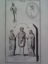 GRAVURE ANCIENNE D'EPOQUE PRIAPE LA CHAUSSE BOISSARD FORMAT 26 x 40.5 cm