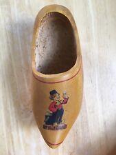 "Vintage HEINEKEN Beer Wooden Shoe 9"" Long Holland Imported Beer VG+ Condition"