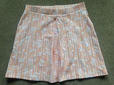 NEXT Peach White Floral Ladies Skirt Elasticated Waist Textured Size 12