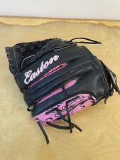 "Easton FPT12 12"" Girls Women Fast Pitch Softball Glove Right RHT Pink & Black"