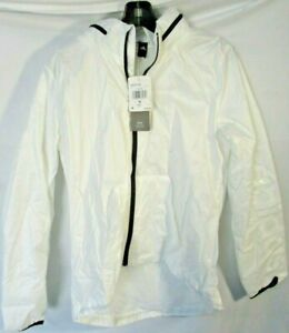 adidas Women's Linear Windbreaker Jacket, White, Small