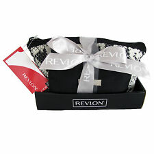 Tolitery Bag Purse Gift Set Revlon Designer Cosmetic Tote Black 2 Piece