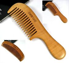 AU Natural Peach Wood No-static Healthy Narrow Wide Teeth Massage Wooden Comb