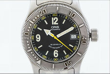 Vintage Mens Oris Big Crown 200M Divers Automatic Date Watch 7502 Swiss Made