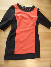 G.W. GERRY WEBER Colourblocking Jerseykleid schwarz orange Gr. 40 w. NEU  316