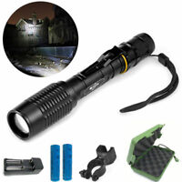 20000Lumens Police LED Tactical Flashlight 18650 Aluminum Torch Zoomable Lamp