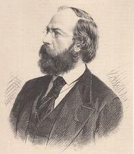 Danzig/Gdansk Persönlichkeiten Heinrich Rickert Lithographie 1882