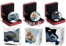 Canada 3 coins x 1 oz. Fine Silver Coin - Lost Ships in Canadian Waters