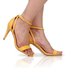 NEW LADIES HIGH HEEL PEEP TOE SHOES SANDAL PARTY CASUAL ANKLE STRAP SIZE 3-8