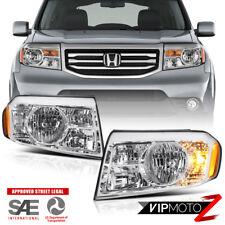 OE Style 2009-2011 Honda Pilot LX EX Touring Headlights Set Left Right Headlamp