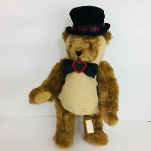 """Vermont Teddy Bear 15"""" Nuts for You Bear Plush Animal"""