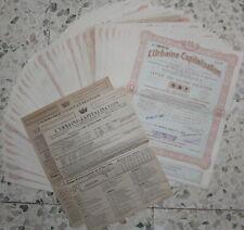 L'Urbaine Capitalisation - 39 Actions / Titres - 1946