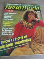 "MAGAZINE PATRONS VINTAGE /""NEUE MODE MODE PRATIQUE LEGERE MIGNONE  ETC 1982"