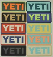 NEW YETI Vinyl Sticker Decal Authentic Assorted Colors Free Shipping!
