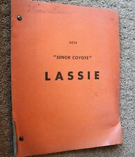 LASSIE TV SHOW SCRIPT EPISODE SENOR COYOTE