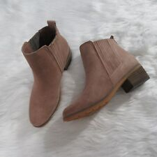 REEF Pink Leather Suede Booties Size 8
