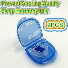 Quality Stop Snoring Mouthguard Mouthpiece Anti Snore Sleep Apnea Mouth Guard 2x