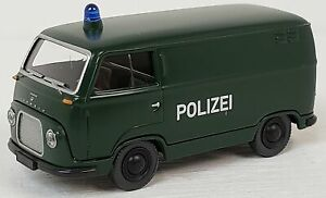 """Wiking NEW HO 1/87 Scale Classic FORD FK 1000 Van """"POLIZEI"""" in Green/White"""