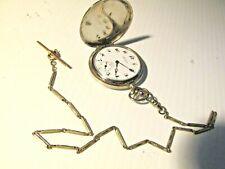 With Vest Chain, Working Condition Super Nice Arnex 17-Jewel Pocket Watch