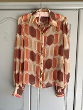 Ladies 60s Look Chiffon Blouse From Riverisland Size 12