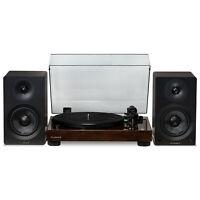 """Fluance Vinyl Turntable with Ai40 5"""" Powered Bookshelf Speakers - aptX Bluetooth"""