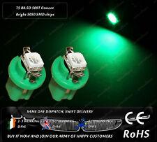 LED SMD T5 Cap B8.5D 509T Green Dashboard Cluster Bulbs Speedo Instrument Lights