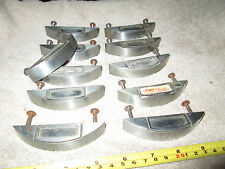 11  VINTAGE DENTAL DOCTOR CABINET PULLS W/ CONTENTS CARD SLOT STAINLESS