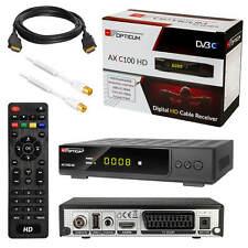 Digital Kabelreceiver Kabel Cabel HDTV DVB-C USB SCART HDMI + Antennenkabel 3m