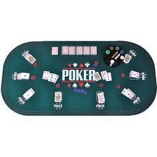 CASINO TABLE BLUE FELT POKER CHIPS GAME POKER PLAYING CARDS BLACKJACK DICE
