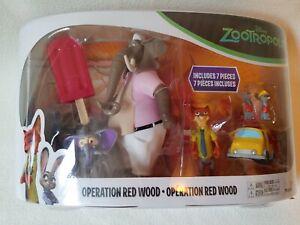 Zootropolis Operation Red Wood 7 Piece/5 Figure Set Tomy Elephant
