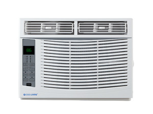 Cool-Living 6,000 BTU Window Air Conditioner with Remote and Window Kit, White