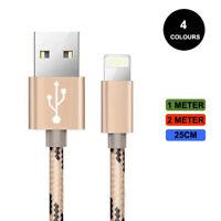 For iPhone 6s 7 8 6 5s X Long Braided USB Quick Charger Data Charging Cable