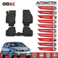 Fußmatten Gummimatten für Opel Astra 2004-2015 Hoher Rand Schwarz Gummi 3D