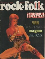 """ROCK & FOLK n°78 juillet 1973"" David BOWIE (Photo David AMARY)"